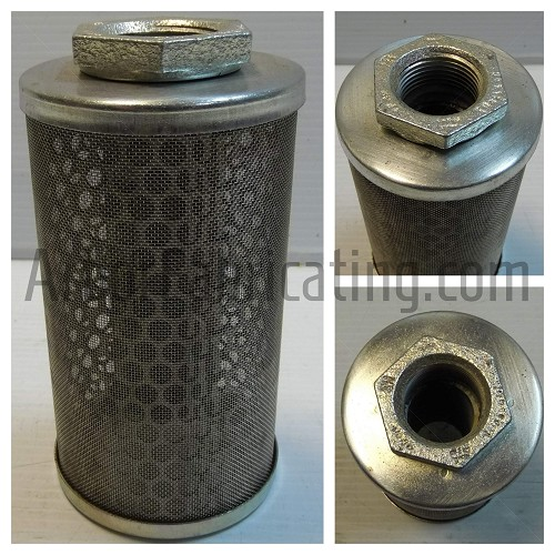 "3"" X 5.75"" Suction Filter 1"" Fitting 600 micron Perf"