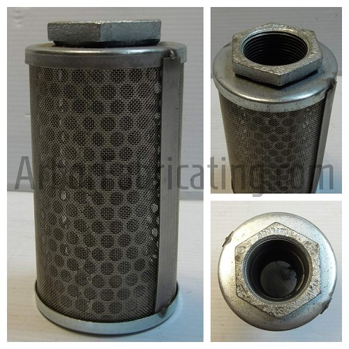 "3"" X 5.75"" Suction Filter with Suction Pipe 1.25"" Fitting 600 micron"