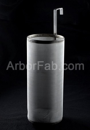 "6"" x 14"" Brew Filter 300 Micron For Keggles Outside Hook"
